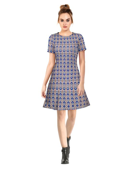 Alai Morpich Blue Dress Zyla Fashion