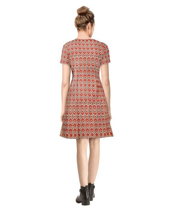 Alai Morpich Red Dress Zyla Fashion