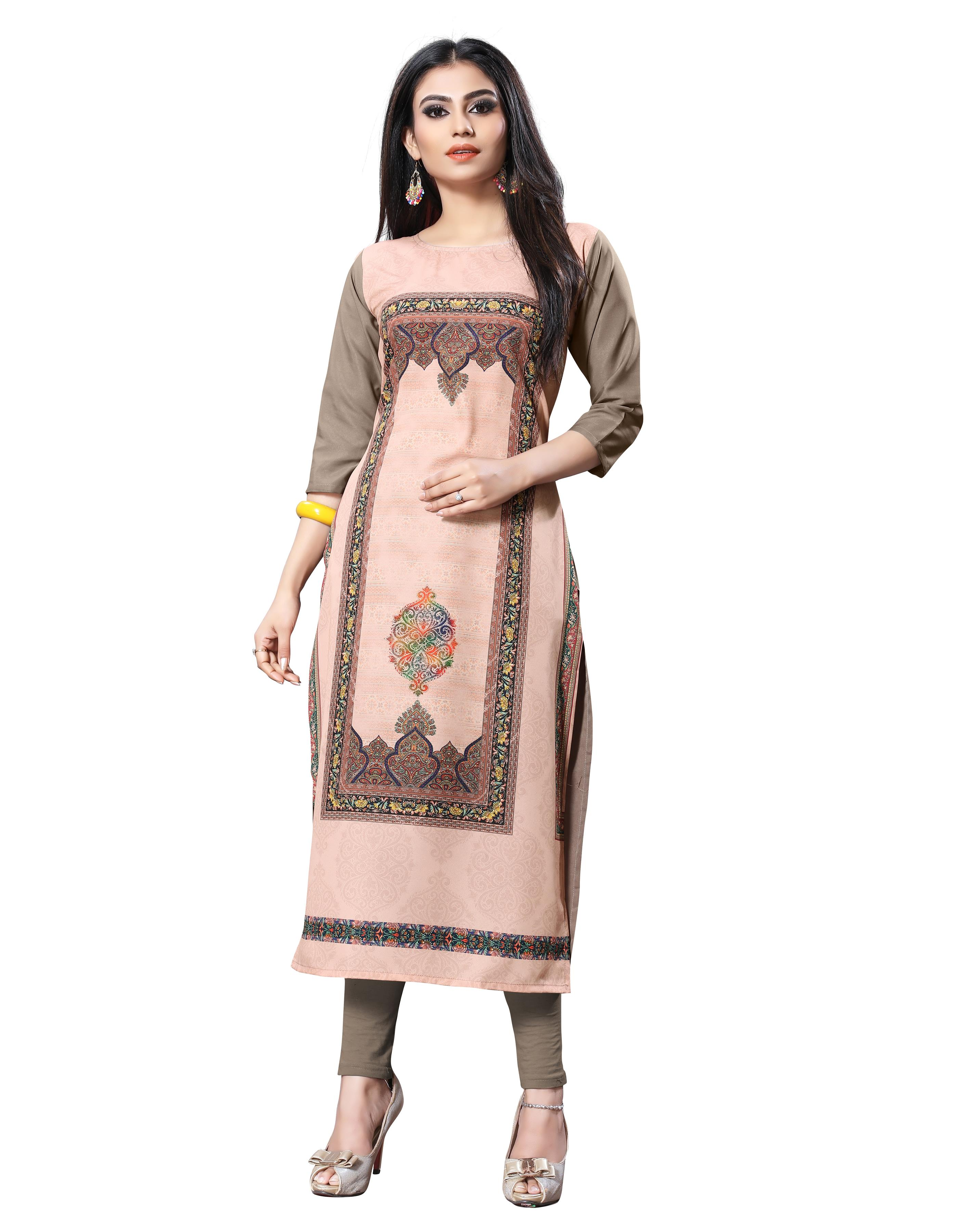 American Causal Designer Antique White Kurti