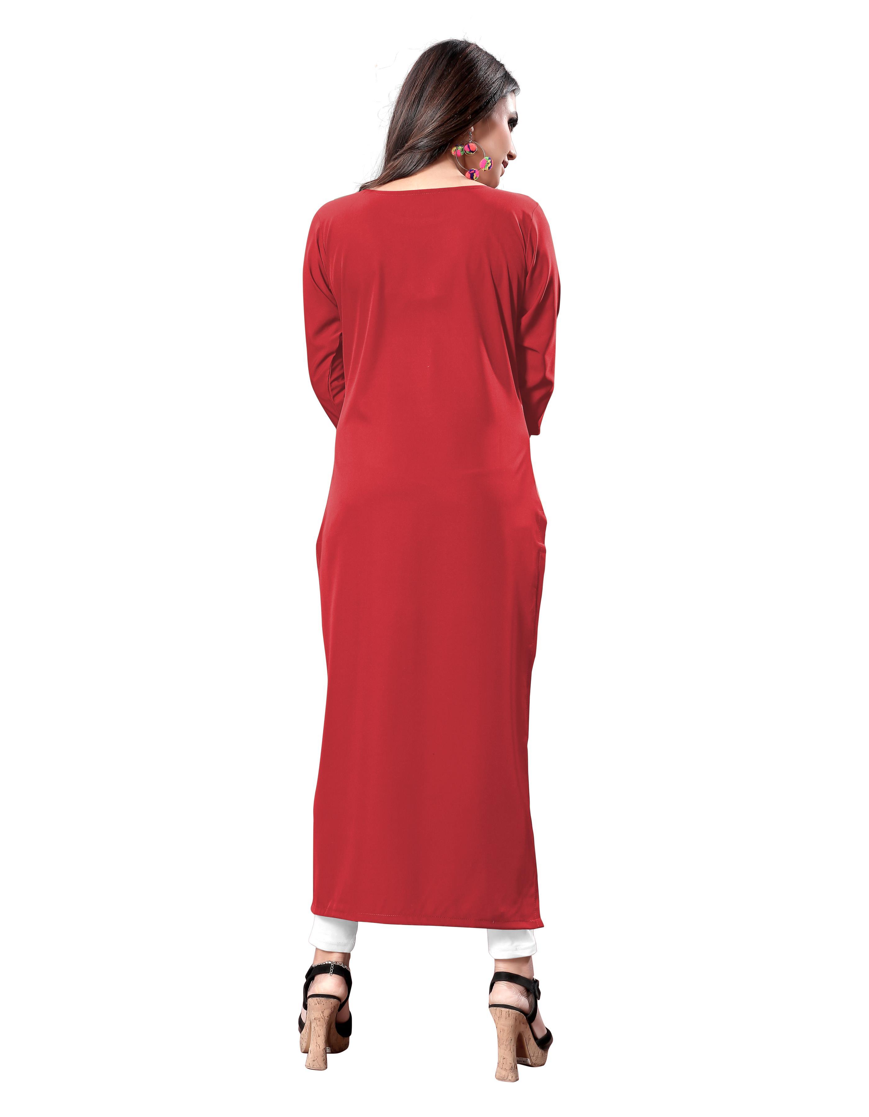 American Causal Designer Red Kurti