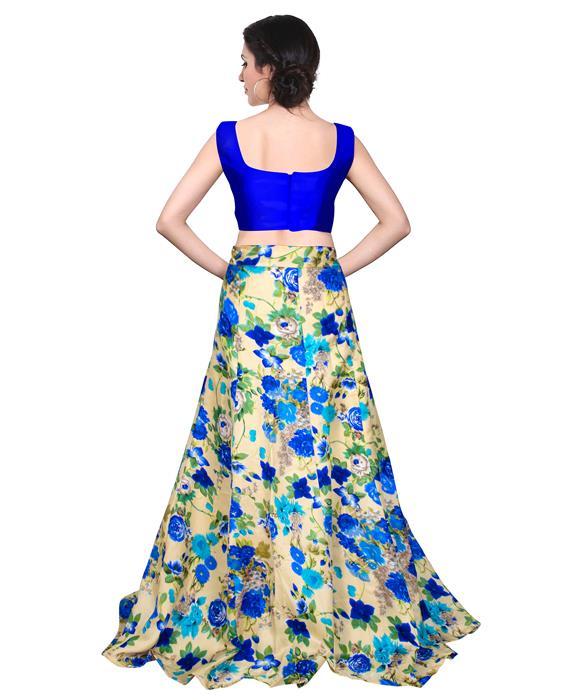 Avadh Blue Designer Lahenga Zyla Fashion
