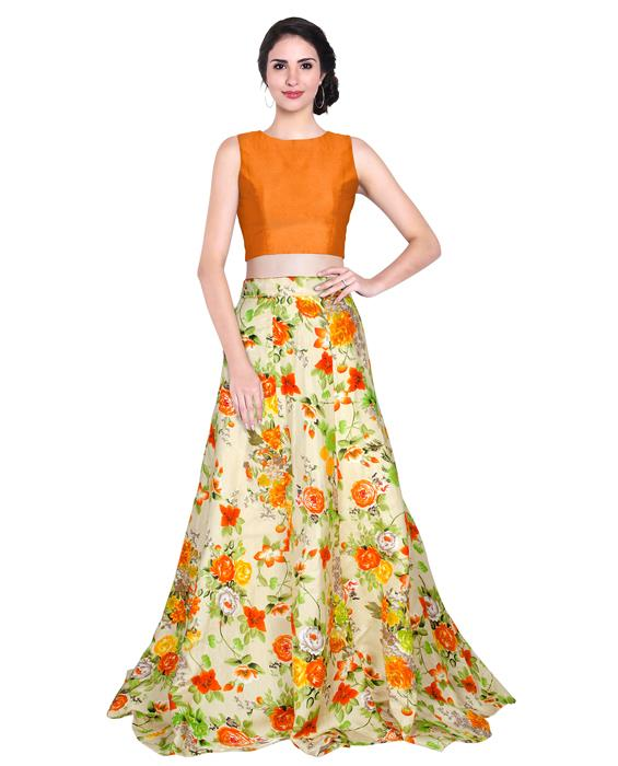 Avadh Orange Designer Lahenga Zyla Fashion