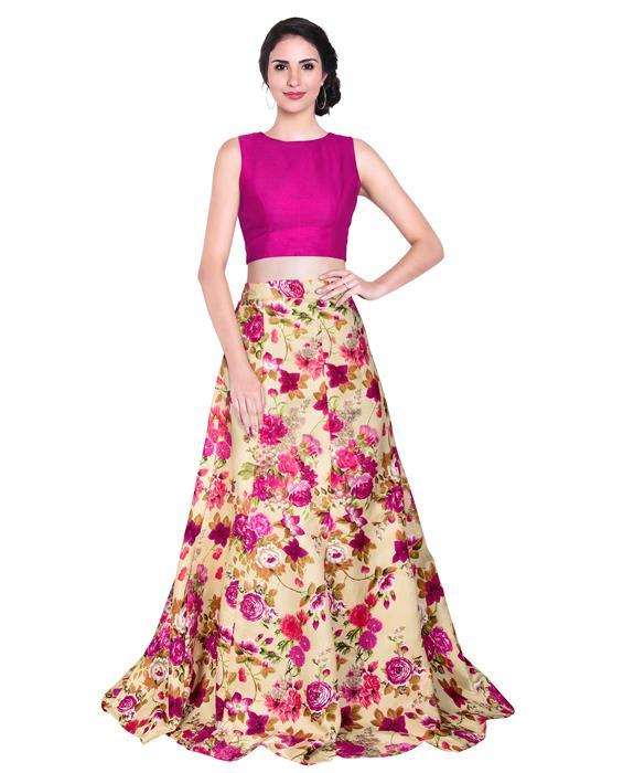 Avadh Wine Designer Lahenga Zyla Fashion