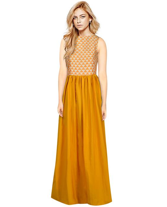 Barbie Orange Designer Gown Zyla Fashion