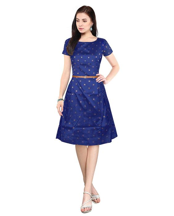 Bollywood Designer Isha Blue Dress Zyla Fashion