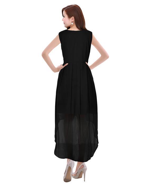 Burger Black Designer Dress Zyla Fashion