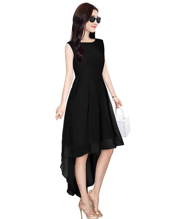 Burger Black Designer Dress Zyla Fashion