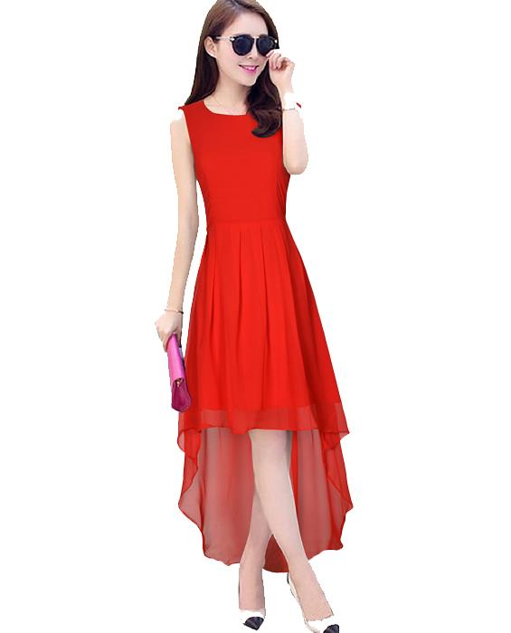 Burger Red Designer Dress Zyla Fashion