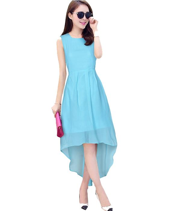 Burger Sky Blue Designer Dress Zyla Fashion