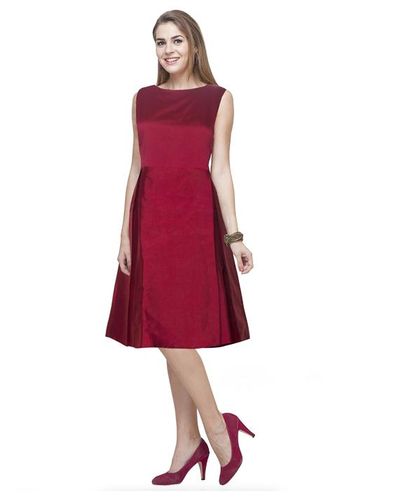 Charmi Designer Maroon Dress Zyla Fashion