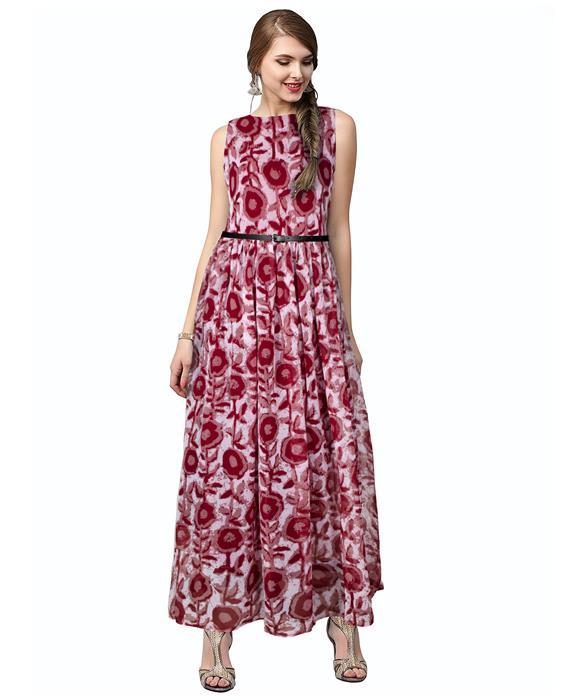 Cooper Red Designer Gown Zyla Fashion