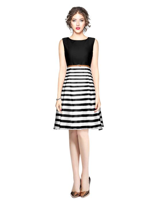 Creta Black Western Dress