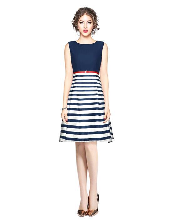 Creta Blue Western Dress