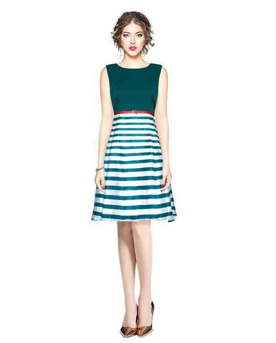 Creta Green Western Dress