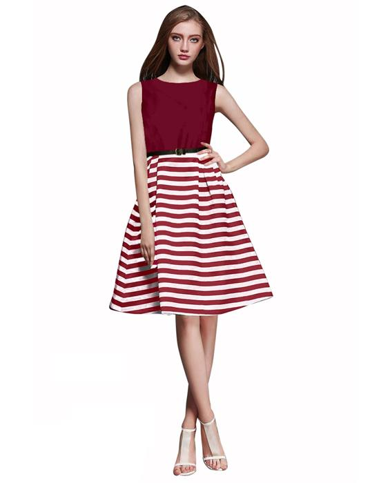 Creta Maroon Western Dress Zyla Fashion