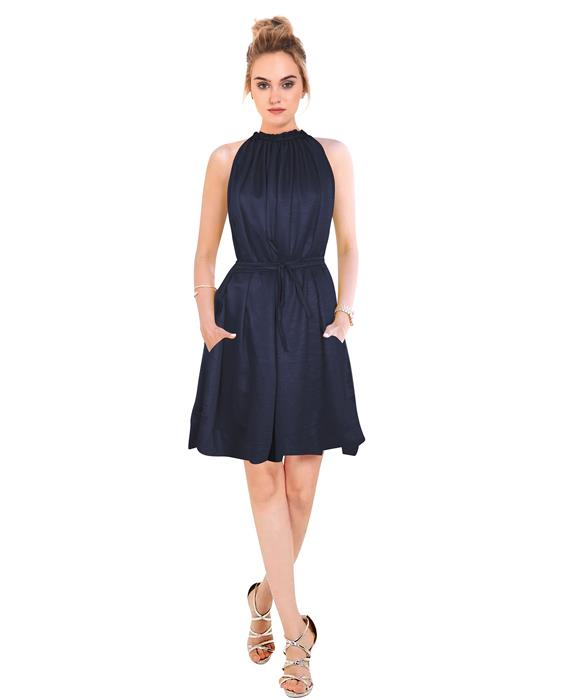 Cruze Designer Blue Dress Zyla Fashion