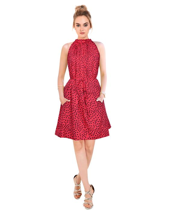 Cruze Designer Crimson Dress Zyla Fashion