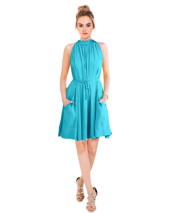 Cruze Designer Cyan Dress Zyla Fashion