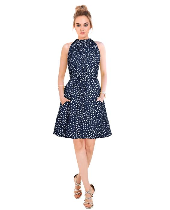 Cruze Designer Dark Blue Dress Zyla Fashion