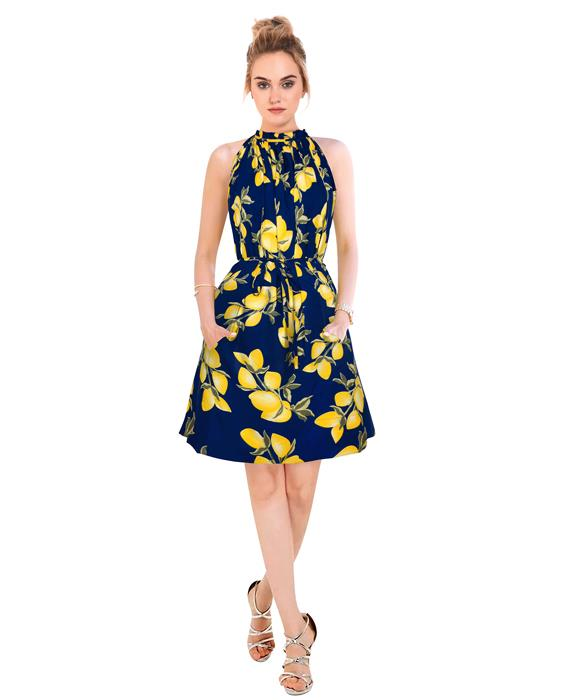 Cruze Designer Midnight Blue Dress Zyla Fashion