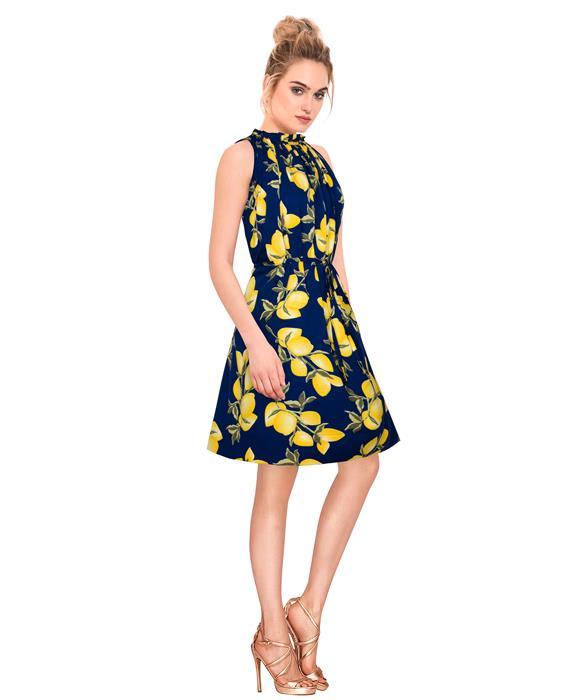Cruze Designer Midnight Blue Dress Zyla Fashion