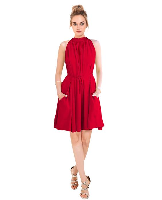 Cruze Designer Red Dress Zyla Fashion
