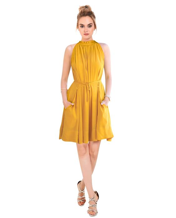 Cruze Designer Yellow Dress Zyla Fashion