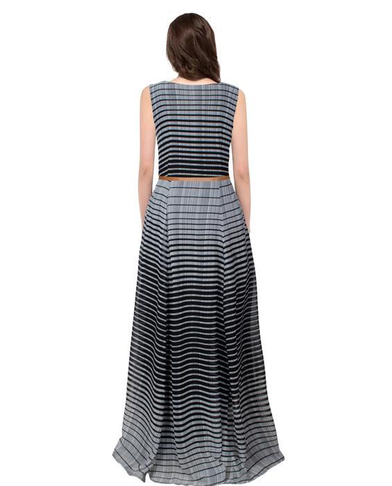Decent Black Designer Gown Zyla Fashion
