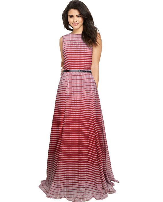 Decent Maroon Designer Gown Zyla Fashion