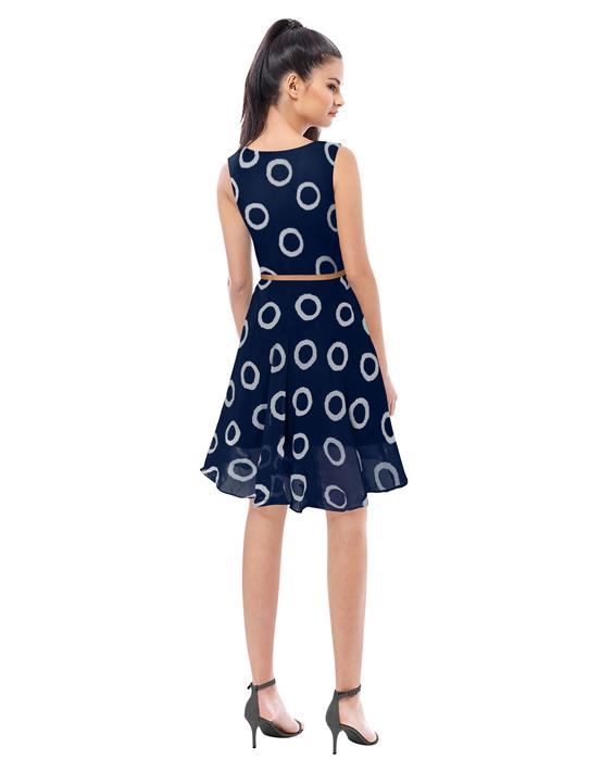Designer Blue Ring Dress