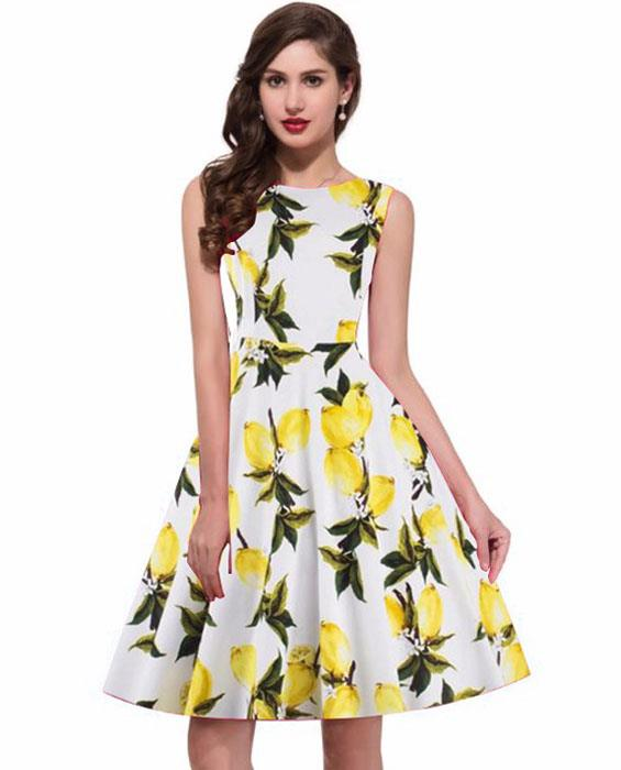 Designer Lemon Yellow Dress Zyla Fashion