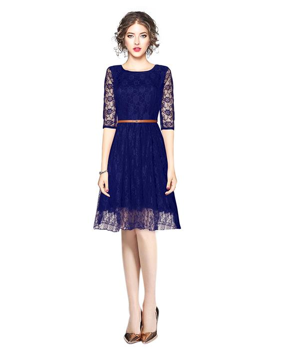 Designer Rich Blue Dress