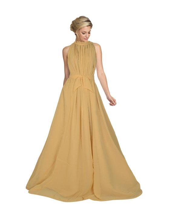 Dyna Beige Designer Gown Zyla Fashion