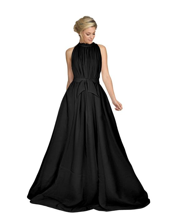 Dyna Black Designer Gown Zyla Fashion
