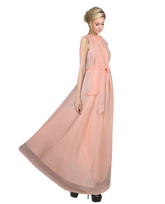 Dyna Peach Designer Gown Zyla Fashion