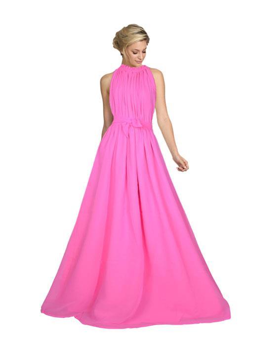 Dyna Pink Designer Gown Zyla Fashion