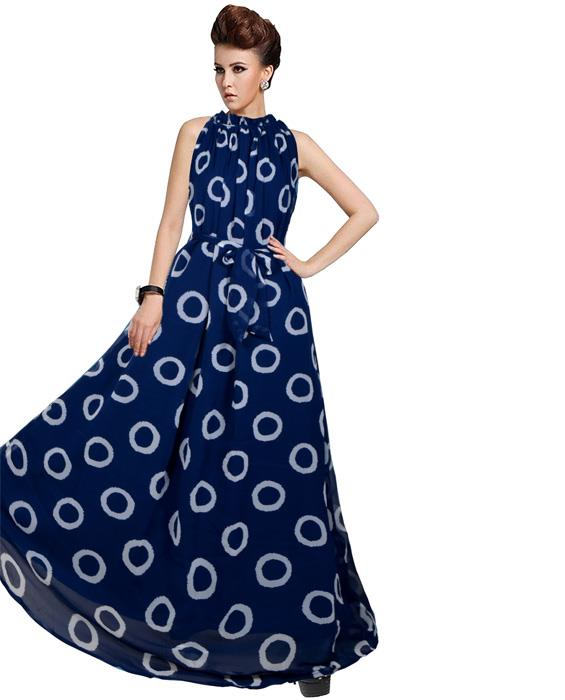 Dyna Ring Blue Designer Gown Zyla Fashion