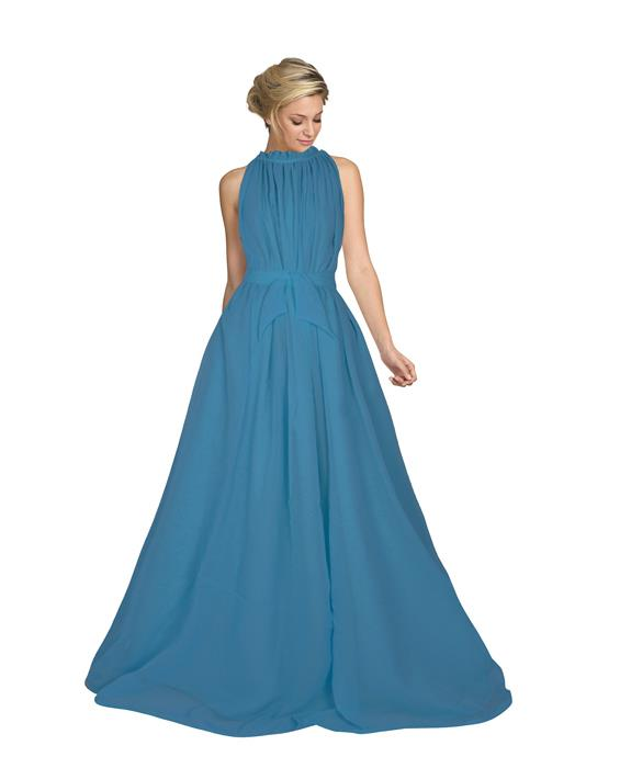 Dyna Sea Green Designer Gown Zyla Fashion
