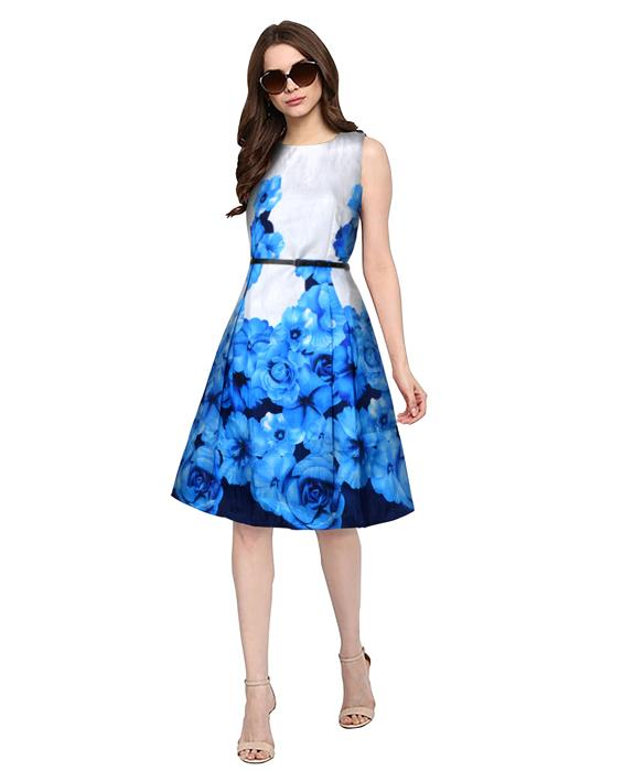 Eliza Designer Blue Dress Zyla Fashion