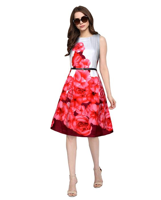 Eliza Designer Red Dress Zyla Fashion