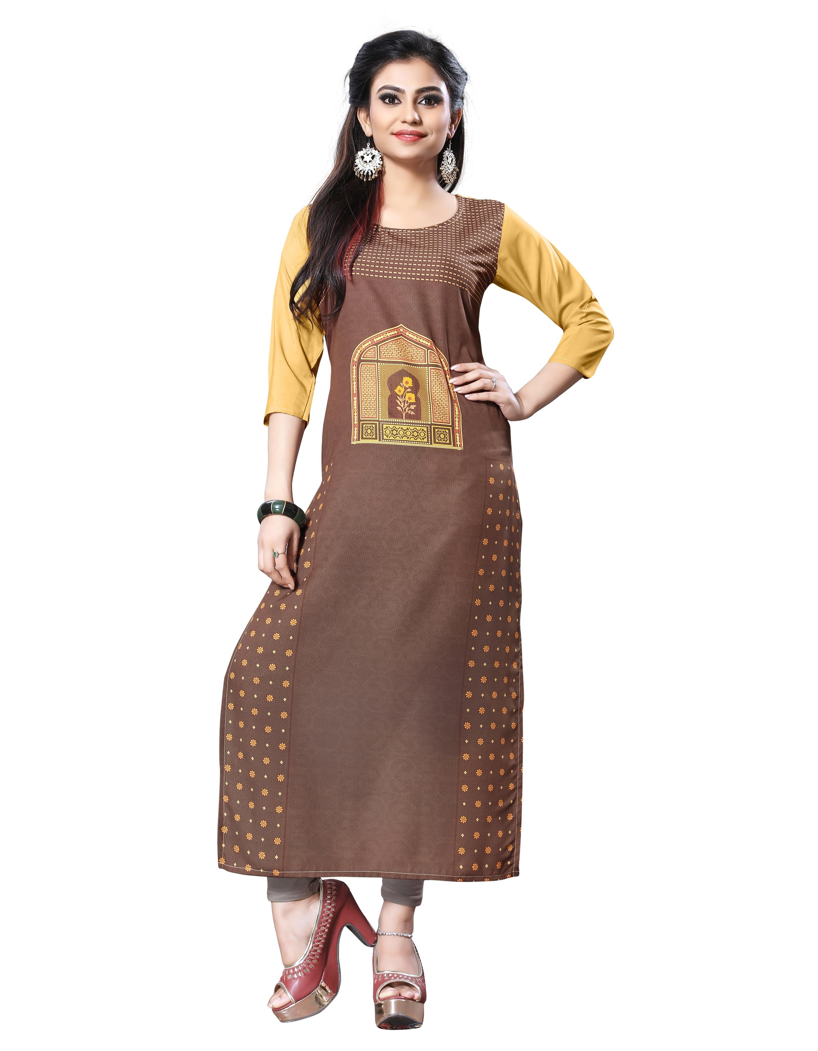Ethical Casual Designer Gold Kurti