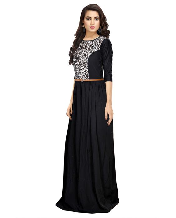 Exclusive Designer Black Zorba Gown Zyla Fashion
