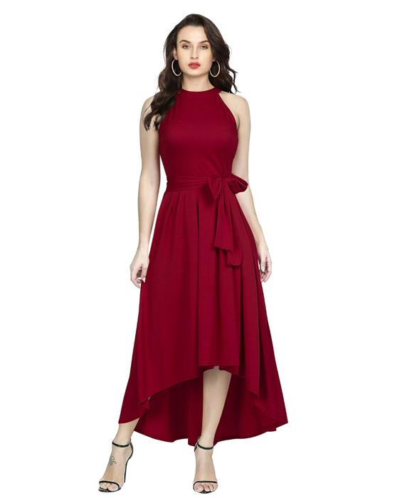 Exclusive Designer Deltin Maroon Gown Zyla Fashion