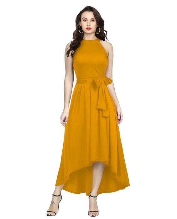 Exclusive Designer Deltin Orange Gown Zyla Fashion
