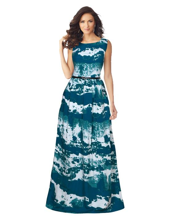 Exclusive Designer Jeny Sea Green Gown Zyla
