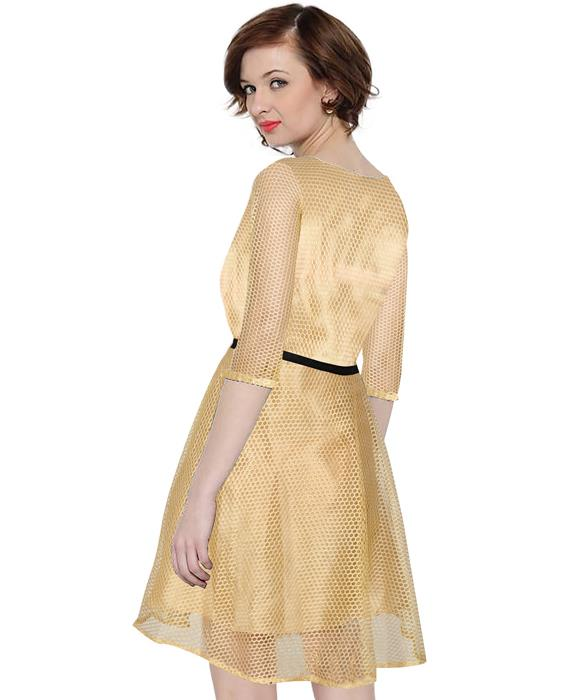 Exclusive Designer Mexican Goldenrod Dress