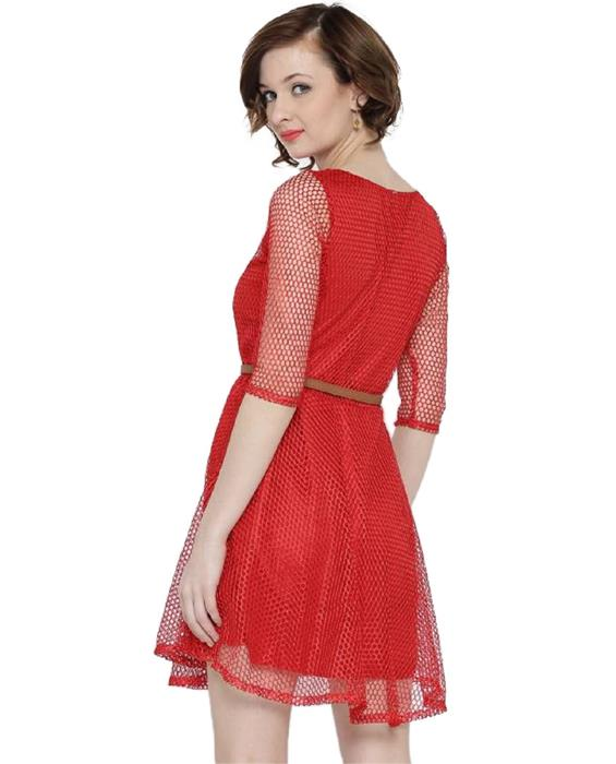 Exclusive Designer Mexican Red Dress Zyla Fashion