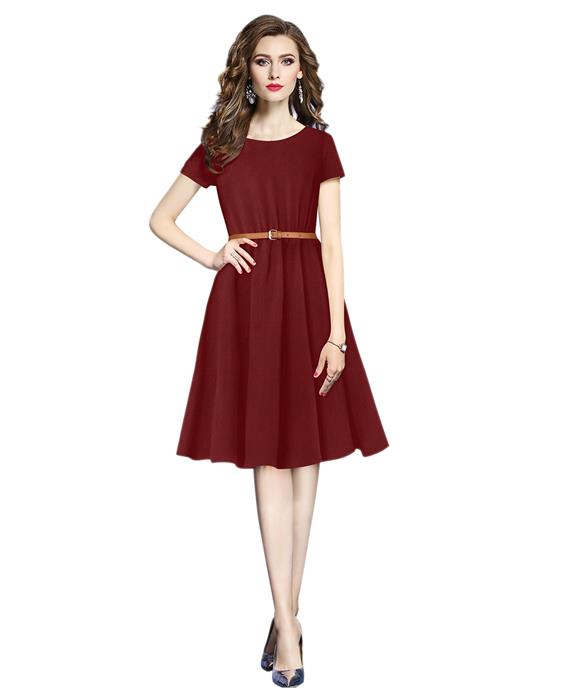 Exclusive Designer New Isha Maroon Dress Zyla