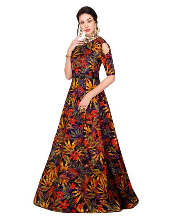 Exclusive Designer Zorba Black Gown Zyla Fashion