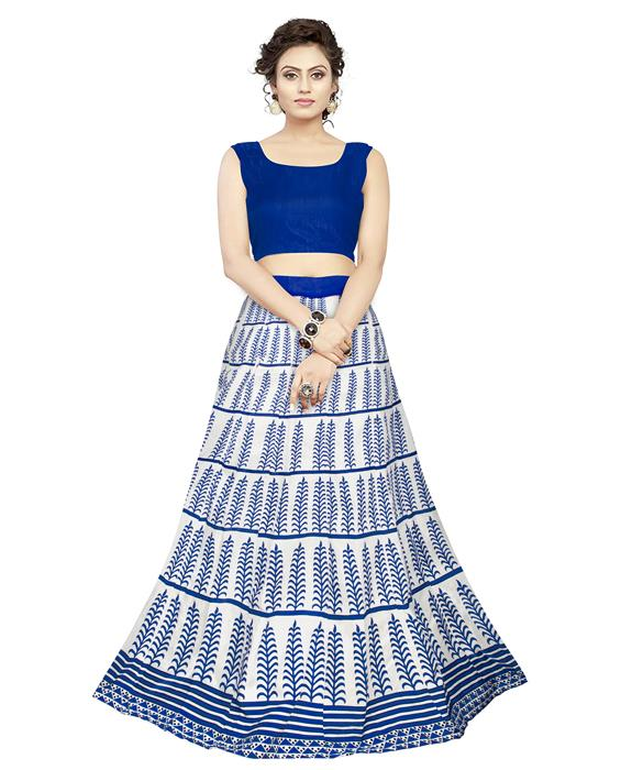 Exclusive Dezire Blue Lehenga Zyla Fashion